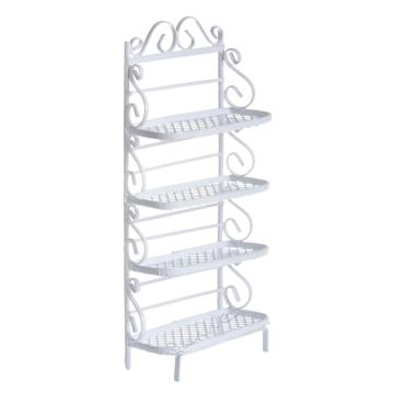 1/12 scale Dollhouse Flower Iron Shelves Pergola