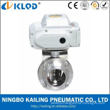 Electric Actuator Food Grade Sanitary Butterfly Valve