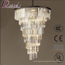Hotel Lobby Large Cone Shape Luxury Crystal Pendant Lamp