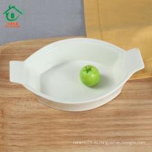 Nuevos productos multifuncionales tazones de cerámica porcelana postre blanco tazones