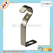 heavy duty steel round metal bracket, j shape aluminum bracket curtain pole