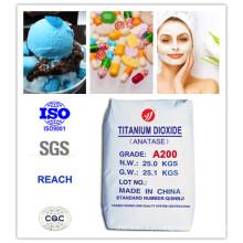 99% Pureza Anatase saudável dióxido de titânio para alimentos e cosméticos (A200)