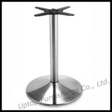 Матовый из нержавеющей стали круглый обеденный стол базы (СП-STL016)