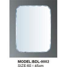 Miroir de salle de bain en aluminium ou en argent de 4 mm en épaisseur (BDL-9002)