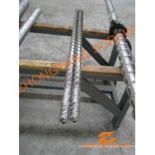 Tornillo y barril de máquina de soplado de película bimetálica de HDPE reciclado LDPE