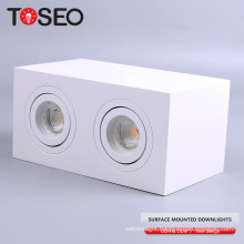 led kitchen multiple down lighting double square surface mount led lights downlight