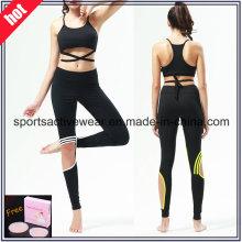 Nach Maß hohe Qualität Spliced Frauen Fitness Tragen Yoga Hosen