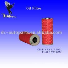 Elemento de filtro de óleo 11 42 1 713 698 para BMW