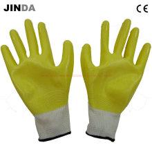 Nh001 Guantes de protección semi-revestidos de nitrilo