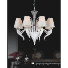 Hotel Lampshade White Glass Pendant Light (81075-8)
