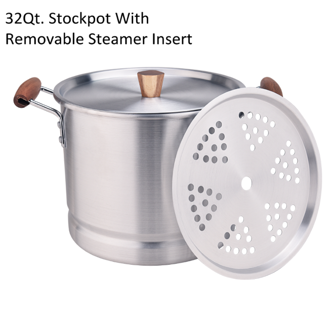 32qt Stockpot With Removable Steamer Insert