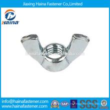 Китай Поставщик Имеется в наличии DIN315 Нержавеющая сталь / углеродистая крыланая гайка / бабочка крыла гайка