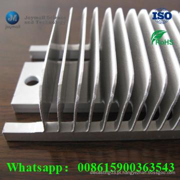 Dissipador de alumínio personalizado da lâmina para a máquina elevada do pó