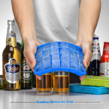 Popular Useful Square Shape Food Grade Silicone Kitchen Tool Ice Cube Tray