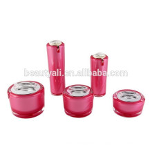 Высококачественные акриловые косметические бутылки и баночки, горячие надувные экологически чистые банки, акриловые пластиковые банки для косметики