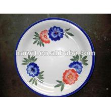 Plaque en céramique en gros / plaque en grès / 8''hand-plaque de peinture / plaque de face / plaque en céramique