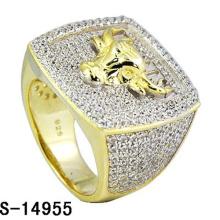Anillo de plata de ley 925 con diamante Hip Hop Jewelry