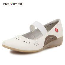 unique white leather breathable nurse shoes