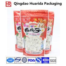 Bolsa de envasado de plástico de calidad alimentaria para aperitivos / frutos secos con ventana transparente