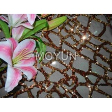 POLY MESH WITH 5MM SEQUIN EMBD 50/52""