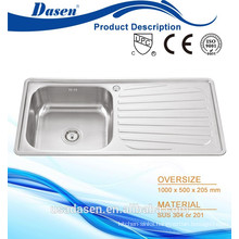 DS 10050 China Heat Sink Stainless steel kitchen cabinet copper Display Sink