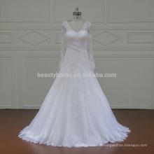 XFM037 long sleeves romance saudi arabia subtle wedding dresses