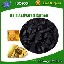 Cáscara de coco carbón activado granular para la extracción de oro