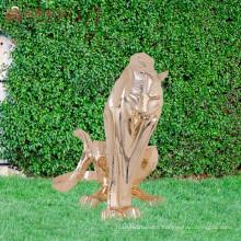 China custom decorative craft polyresin tiger garden figurines