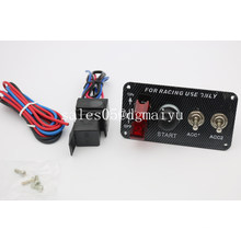 12V Ignition Switch Car Engine Switch Panel with 2 Toggle Switch