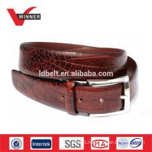 Fashion mens crocodile leather belt