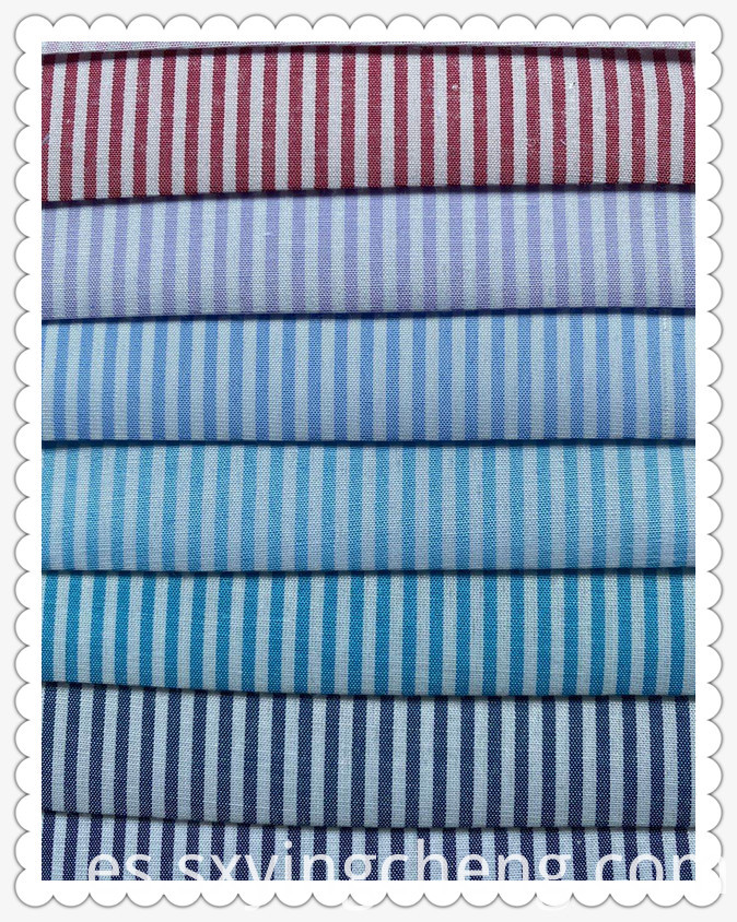 80% Polyester 20% Cotton Multicolor Stripe
