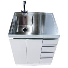 Armario blanco de la bañera del lavabo del acero inoxidable (1000)