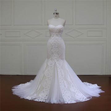 Трапеция Свадебные платья плетение бисером створки (XF16006)