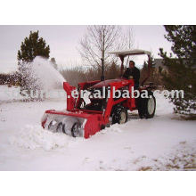 farm machine snow blower on front end loader