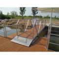 floating boat durable floating marina pontoon walkway with wood decking bridge dock