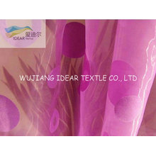 Flocked Organza Fabric For Decoration Fabric