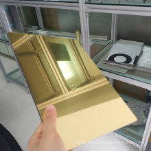 Gold Colour High Reflective Mirror Finish ACP