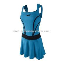 Jupes de tennis bleues de haute qualité avec des shorts en gros