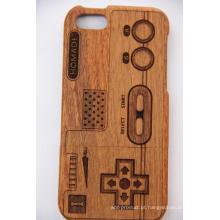 Teste padrão da árvore Madeira Estilo Retro para iPhone Case com Gravura a Laser Madeira De Bambu Cereja Madeira Enseada