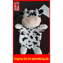 Plush animal hot water bag wholesale plush cow hot water bag cover