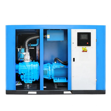 Professional 15kw 22kw 30kw 37kw two stage air compressor 7 bar 8 bar air cooling dryer ac power screw air-compressors