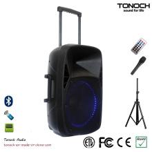 15 Zoll PA-Bühnenlautsprecher mit blauem LED-Licht