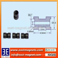 En forma especial con agujero de componentes de neodimio imán para la venta / nefeb imán fábrica de ningbo