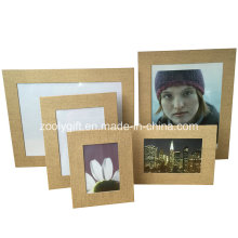 """8.5 X 11 """" Brown Textured Paper Leatherette Photo Frame"""