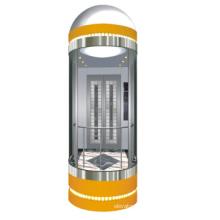 Hairline Stainless Steel Standard Panoramic Elevator