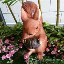 Simulation fiberglass animal sculpture-squirrel