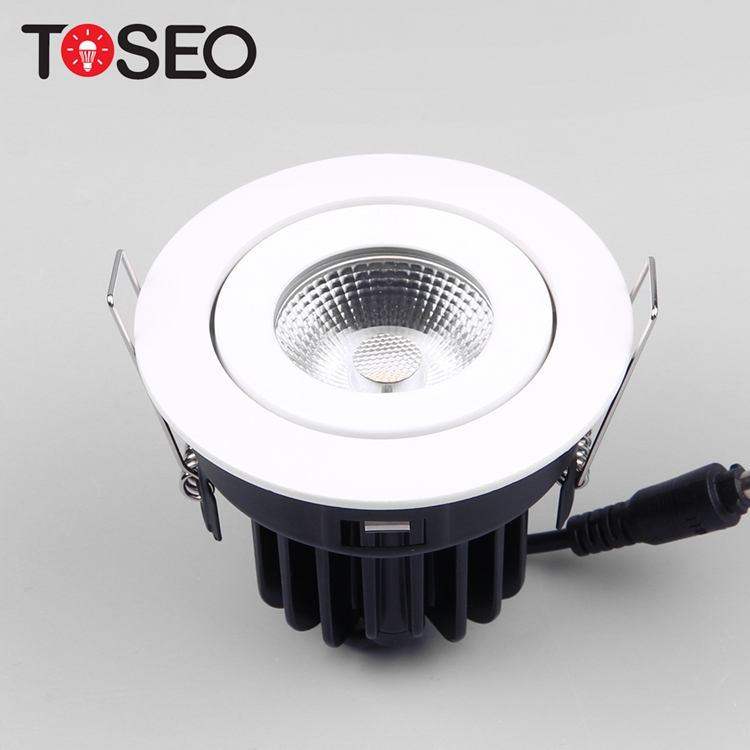 Cut out 75MM 10W round adjustable recessed spotlight led cob downlight