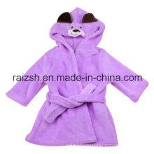 Baby Coral Fleece Bathrobe with Hood