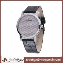 Reloj de alta calidad de la aleación del reloj del leater genuino de la aleación