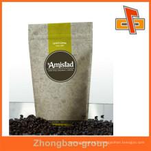 Gravure Printing Surface Handling and Zipper Top Sealing & Handle aluminum foil zip lock coffee bag